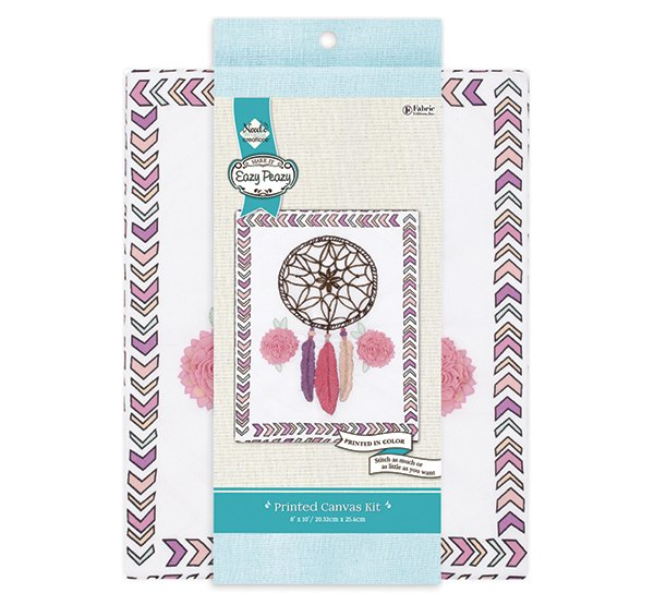 Eazy Peazy<br>Embroidery Canvas Kit<br>NC-EP-TRND-13