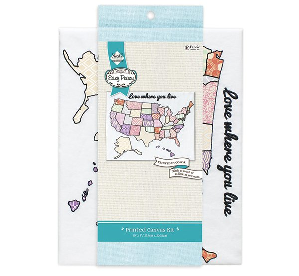 Eazy Peazy<br>Embroidery Canvas Kit<br>NC-EP-TRND-12