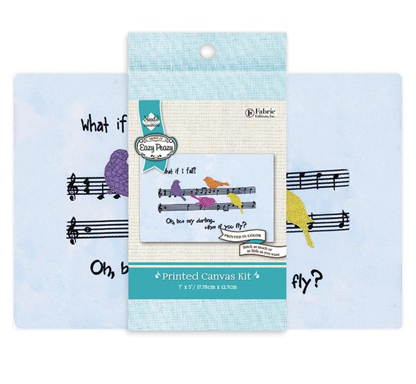 Eazy Peazy<br>Embroidery Canvas Kit<br>NC-EP-TRND-4