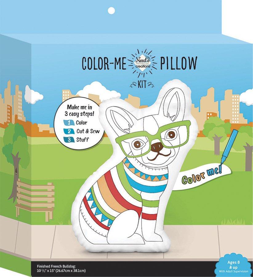 Needle Creations <br>Color-Me Pillow Kit Bulldog<br>NC-COLORME-DOG