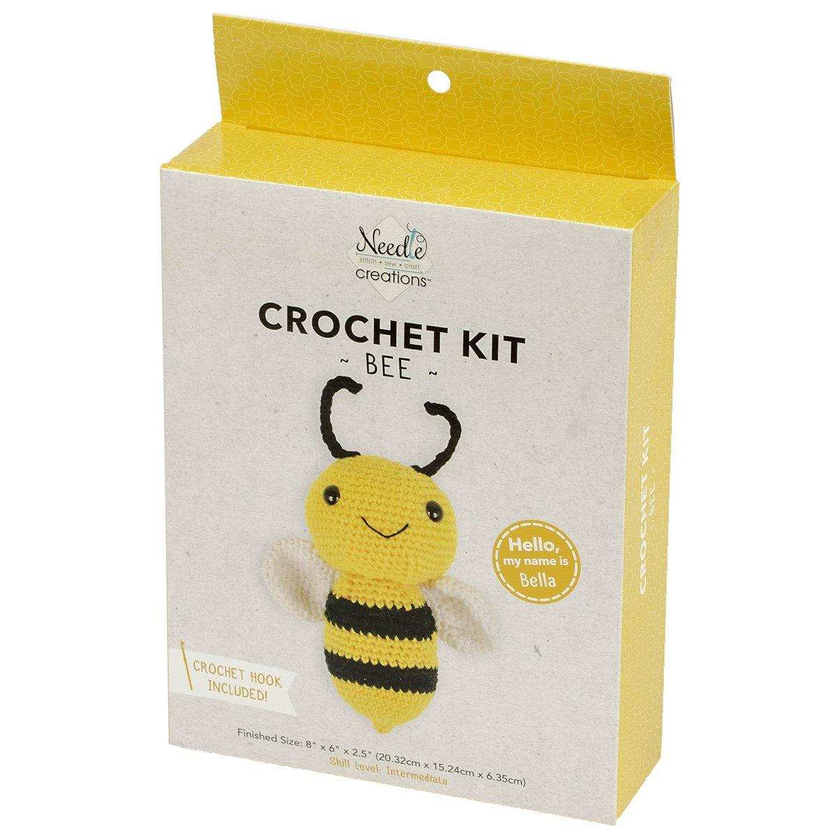 Needle Creations<br>3-D Crochet Kit Bee<br>NC-CRCHKT-BEE