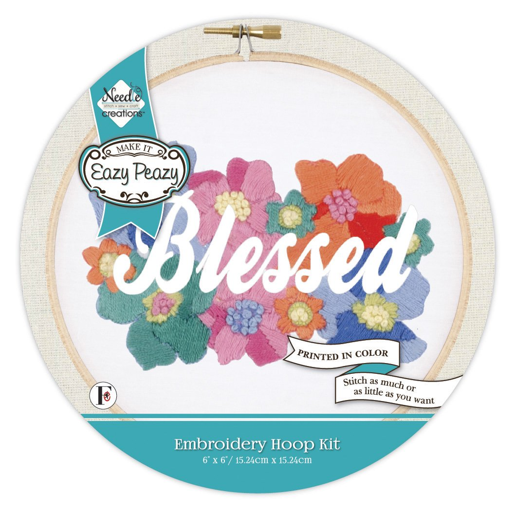 Eazy Peazy<br>Embroidery Hoop Kit<br>NC-EP-EMB-4