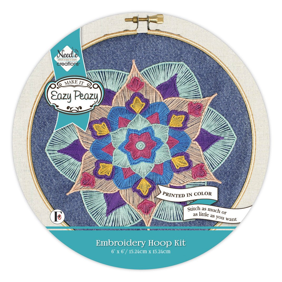 Eazy Peazy<br>Embroidery Hoop Kit<br>NC-EP-PD-3