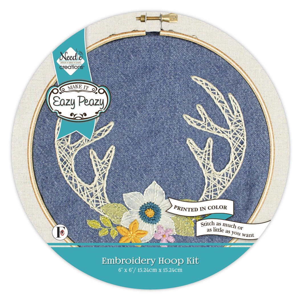 Eazy Peazy<br>Embroidery Hoop Kit<br>NC-EP-PD-4