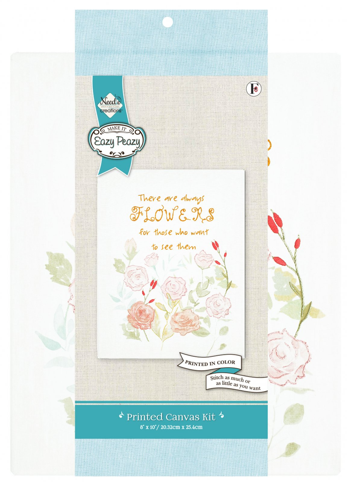 Eazy Peazy<br>Embroidery Canvas Kit<br>NC-EP-TRND-17