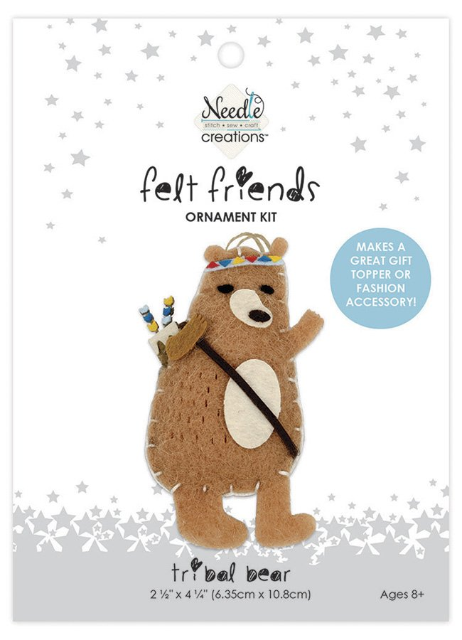 Needle Creations <br>Felt Friends Ornament Kit Bear<br>NC-FLTK-TRBBEAR