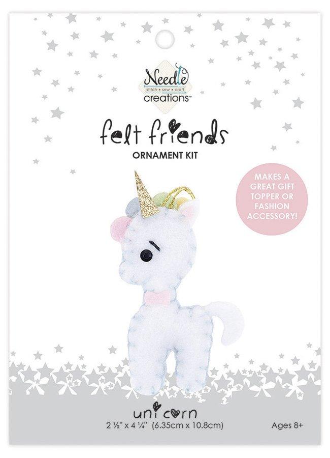 Needle Creations <br>Felt Friends Ornament Kit Unicorn<br>NC-FLTK-UNICRN2
