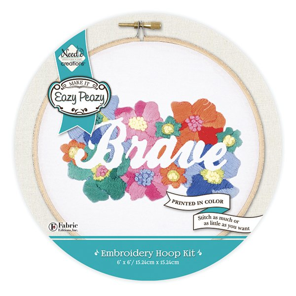 Eazy Peazy<br>Embroidery Hoop Kit<br>NC-EP-EMB-1