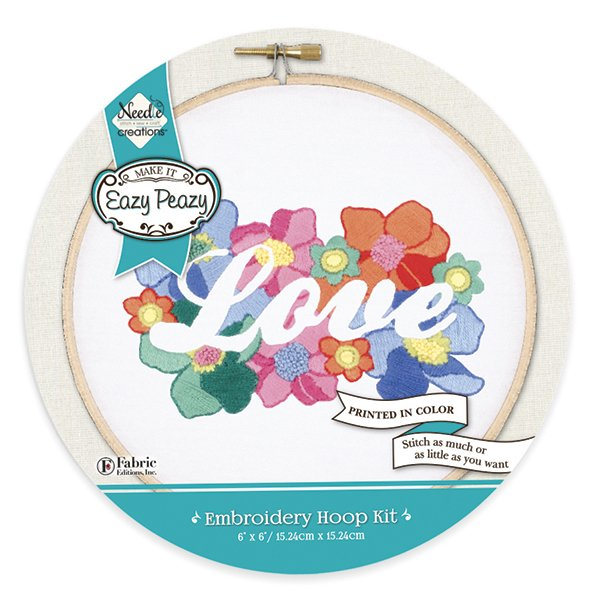 Eazy Peazy<br>Embroidery Hoop Kit<br>NC-EP-EMB-2