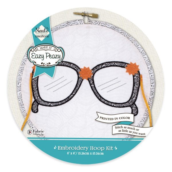 Eazy Peazy<br>Embroidery Hoop Kit<br>NC-EP-ICON-3