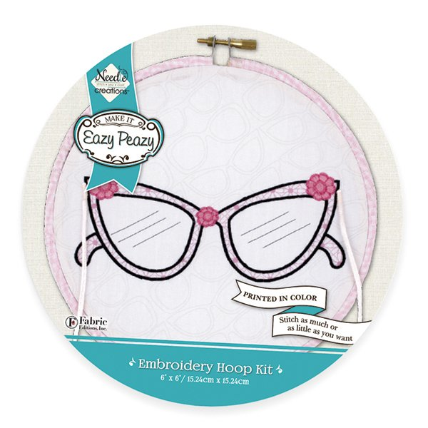Eazy Peazy<br>Embroidery Hoop Kit<br>NC-EP-ICON-2