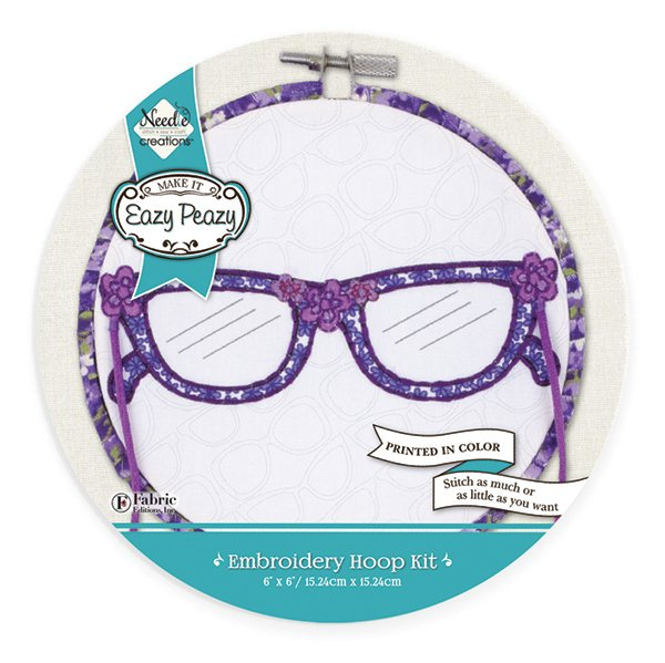 Eazy Peazy<br>Embroidery Hoop Kit<br>NC-EP-ICON-1