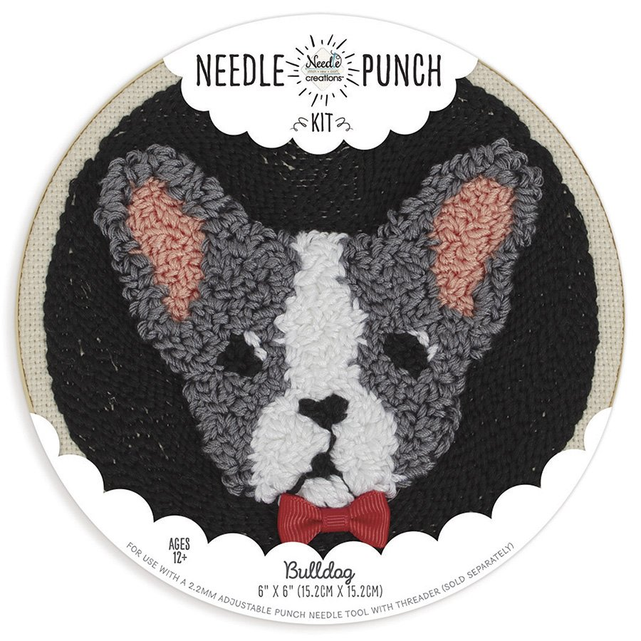 Needle Creations <br>Needle Punch Hoop Kit Bulldog<br>NC-PNND-BULLDOG