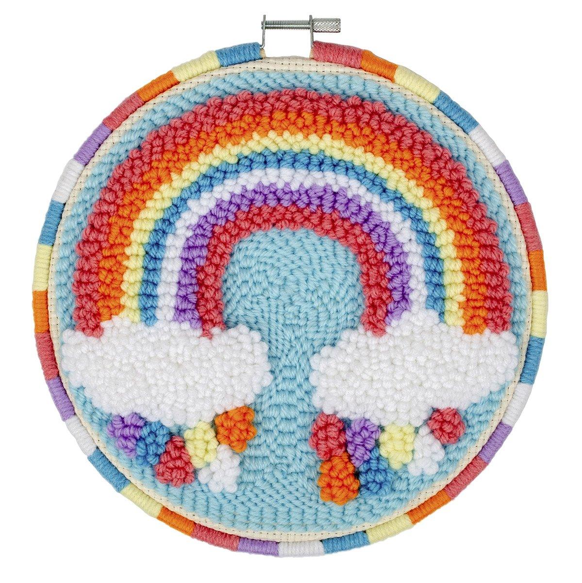 Needle Creations<br>8 Punch Needle Hoop Rainbow<br>NC-PNND-RNBOW8