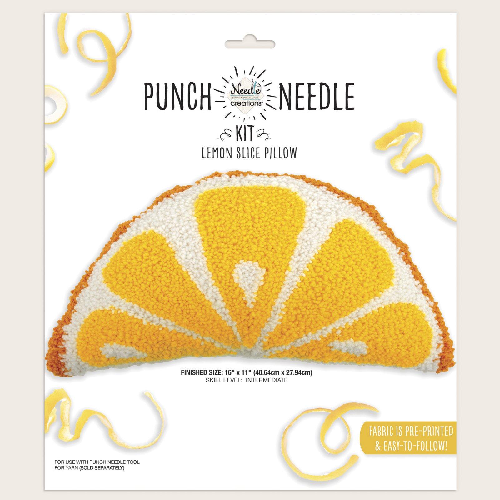 Needle Creations<br>Punch Needle Pillow Lemon Slice<br>NC-PNNDPL-LMON