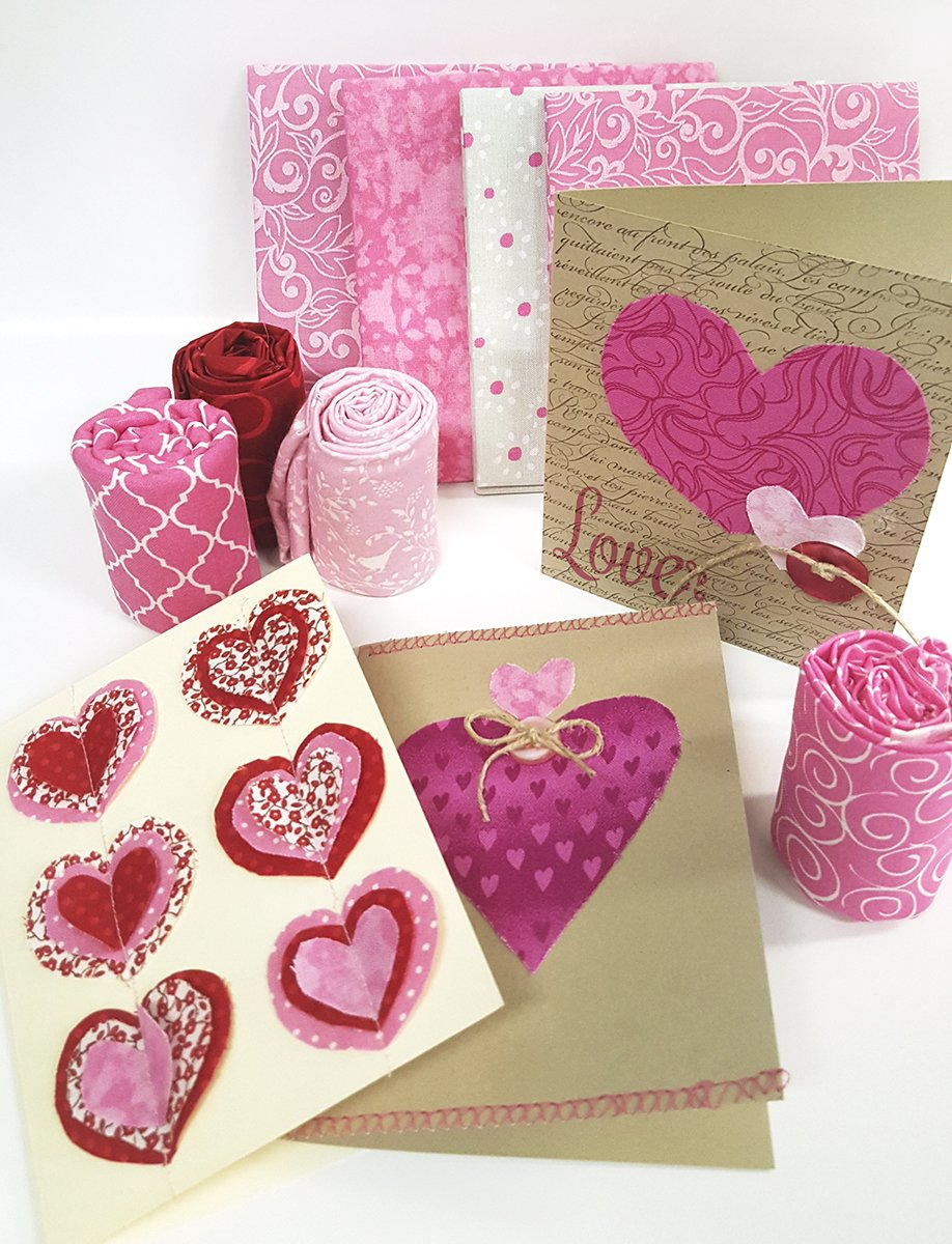 Valentine's Day Fabric Cards