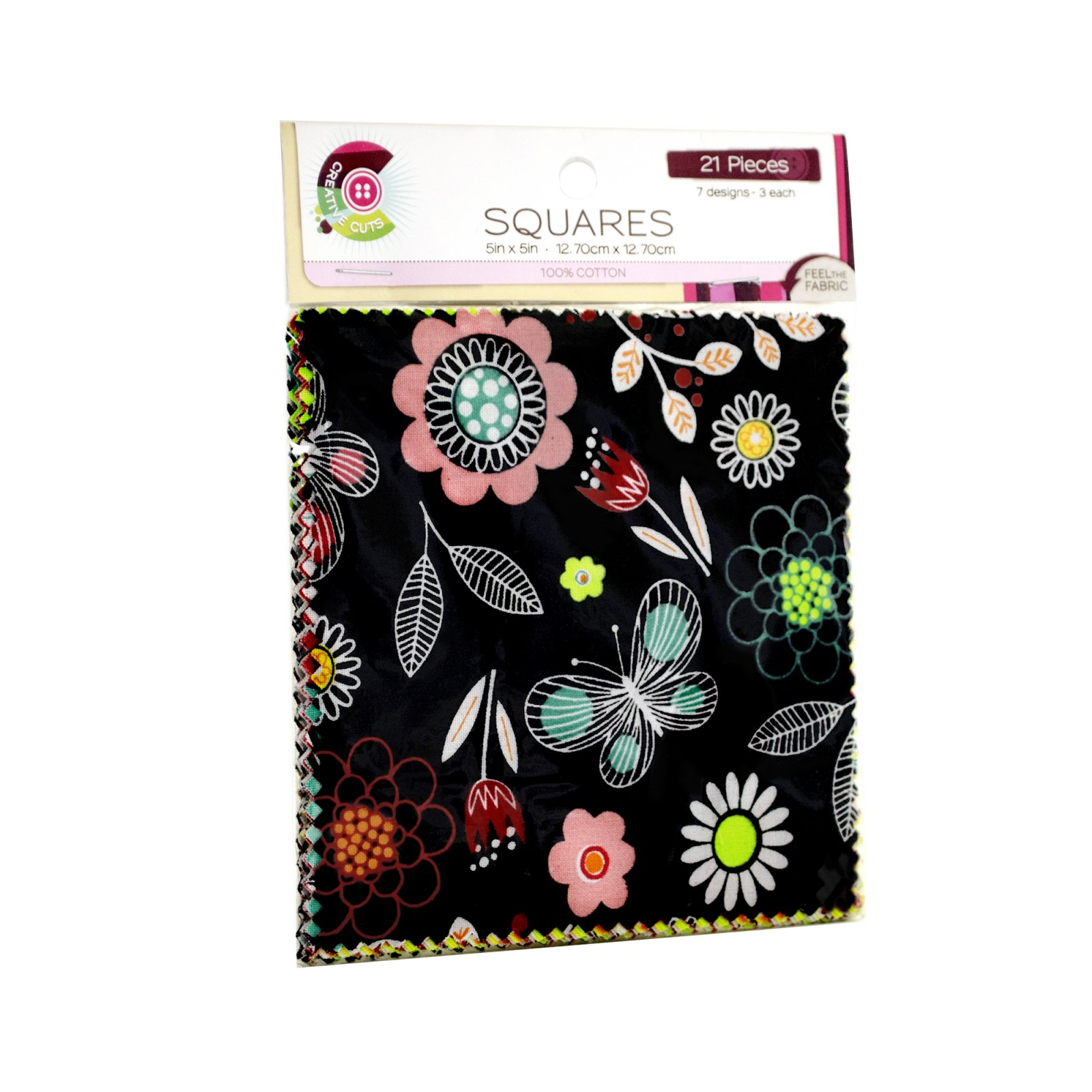 Creative Cuts 21pc Squares Pack <br>  Notebook Floral Collection<br> MD-WM-SQ-NBFL