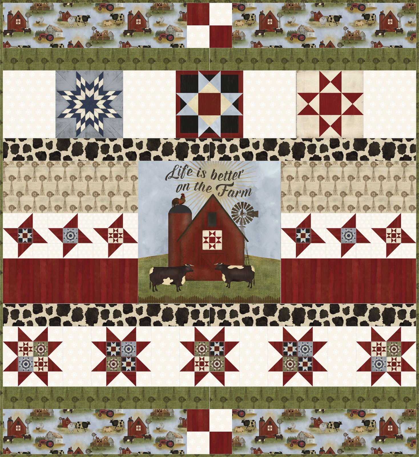 3 Wishes Fabric<br>On the Farm Quilt