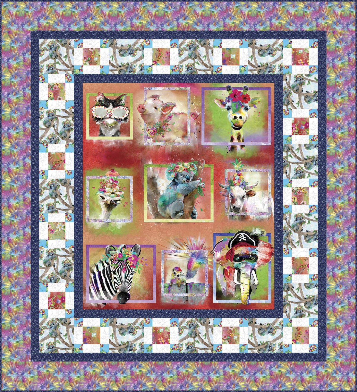 3 Wishes Fabric<br>Party Animals Quilt