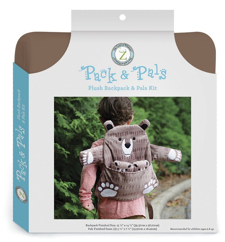 The Land of Whimzie <br>Pack & Pals Kit Bear<br>PC-LW-BEAR-PPL