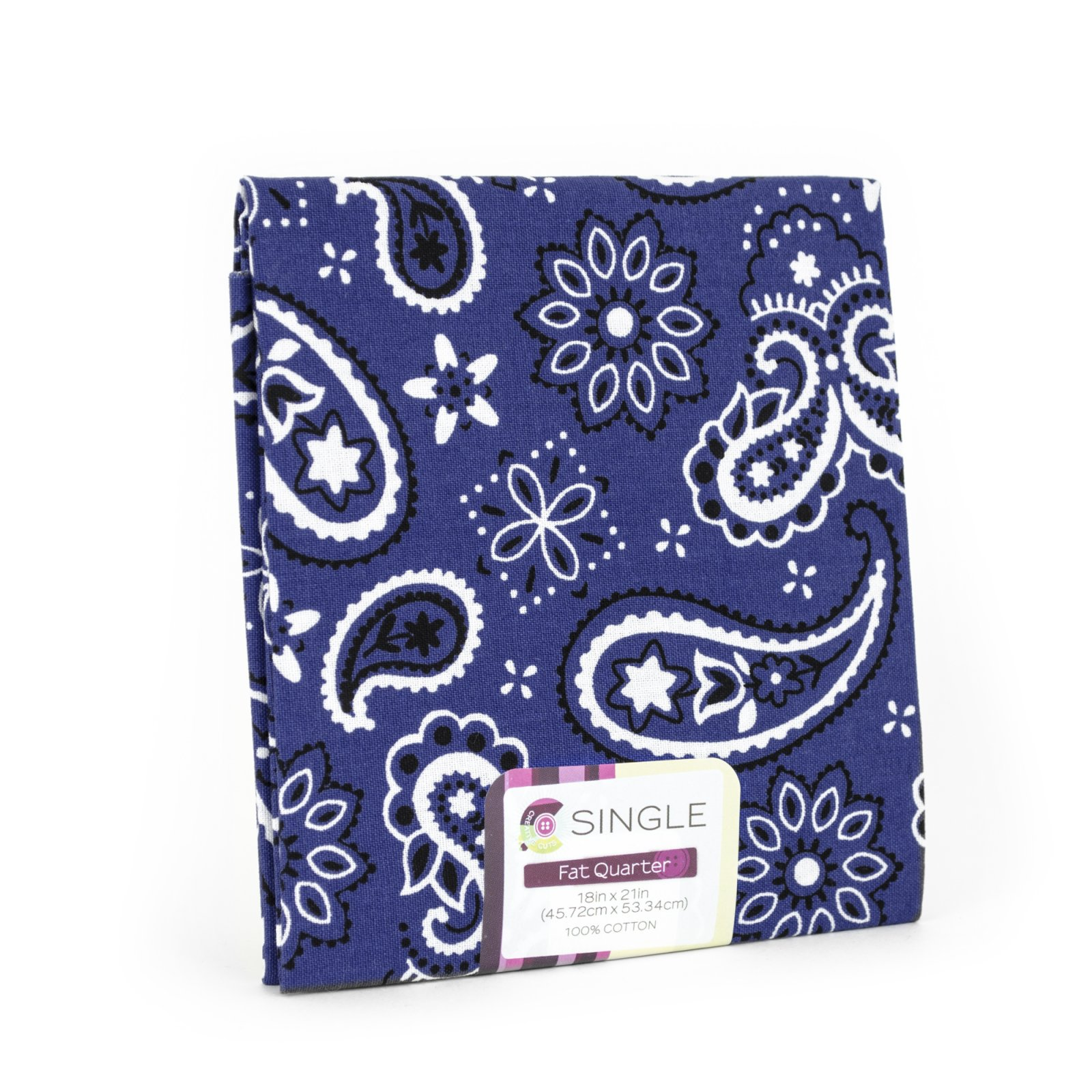 Creative Cuts Fat Quarter <br>Bandana Ink <br>MD-G-PC717