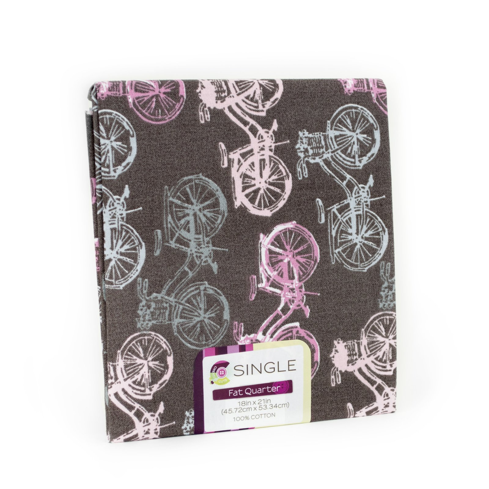 Creative Cuts Fat Quarter <br>Bicycle Bubblegum <br>MD-G-PC697