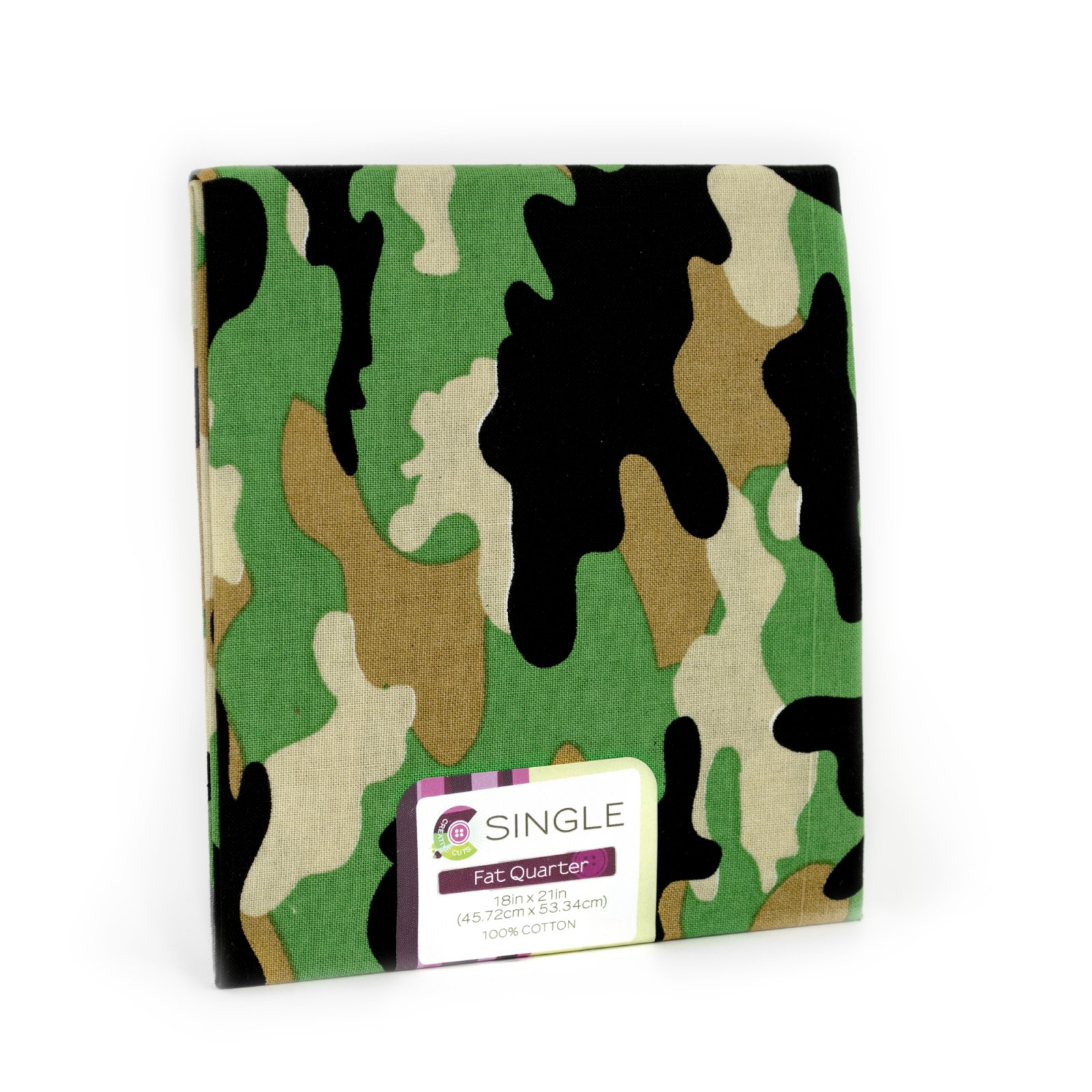 Creative Cuts Fat Quarter <br>Camo Green <br>MD-G-PC706