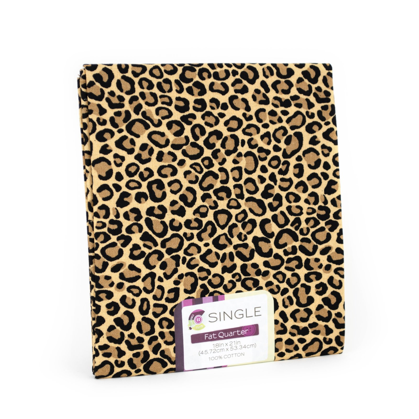 Creative Cuts Fat Quarter <br>Cheetah Ginger <br>MD-G-PC731