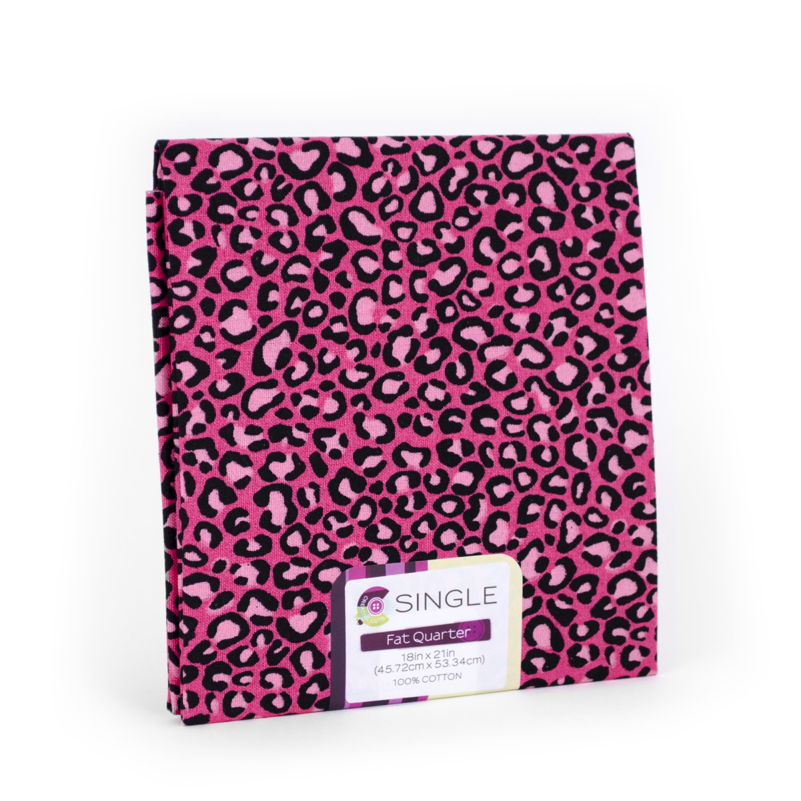 Creative Cuts Fat Quarter <br>Cheetah Magenta <br>MD-G-PC728