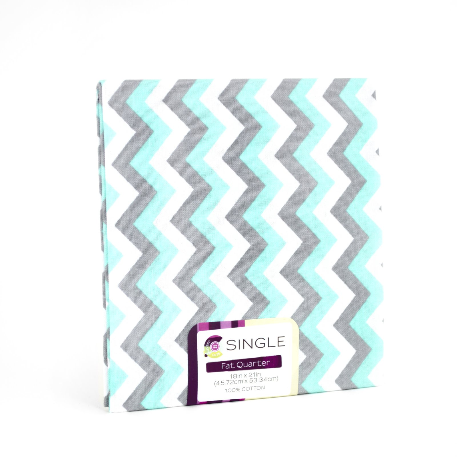 Creative Cuts Fat Quarter <br>Chevron Aqua <br>MD-G-PC596