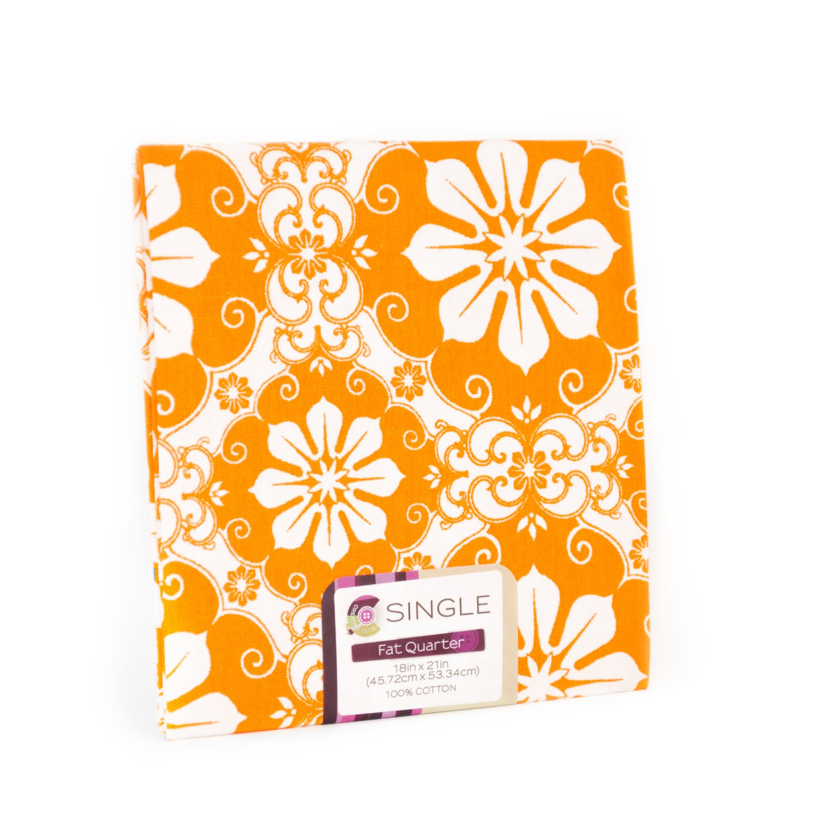 Creative Cuts Fat Quarter <br>Damask Carrot <br>MD-G-PC748