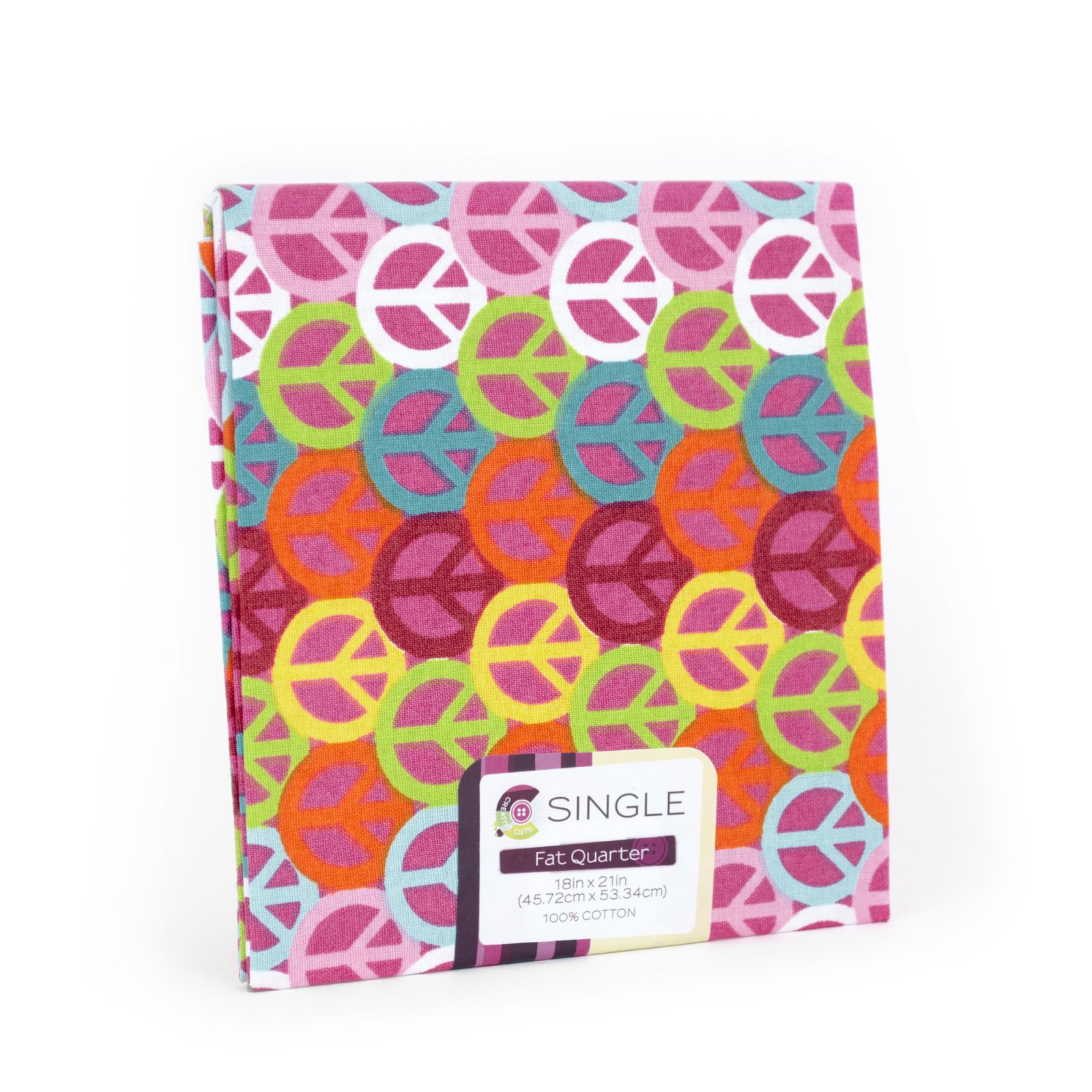 Creative Cuts Fat Quarter <br>Peace Sign Magenta <br>MD-G-PC727