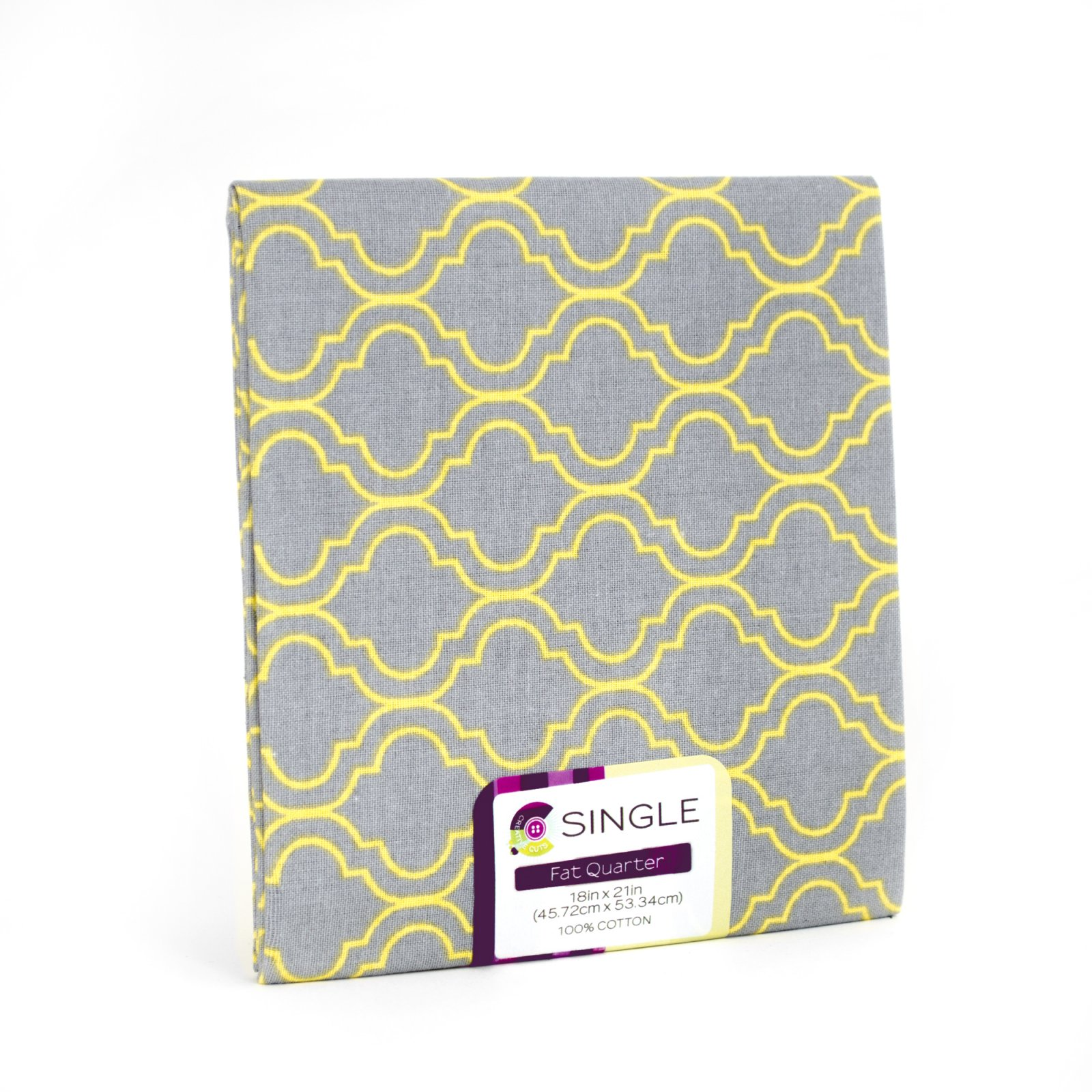 Creative Cuts Fat Quarter <br> Quatrefoil Maize <br>MD-G-PC680