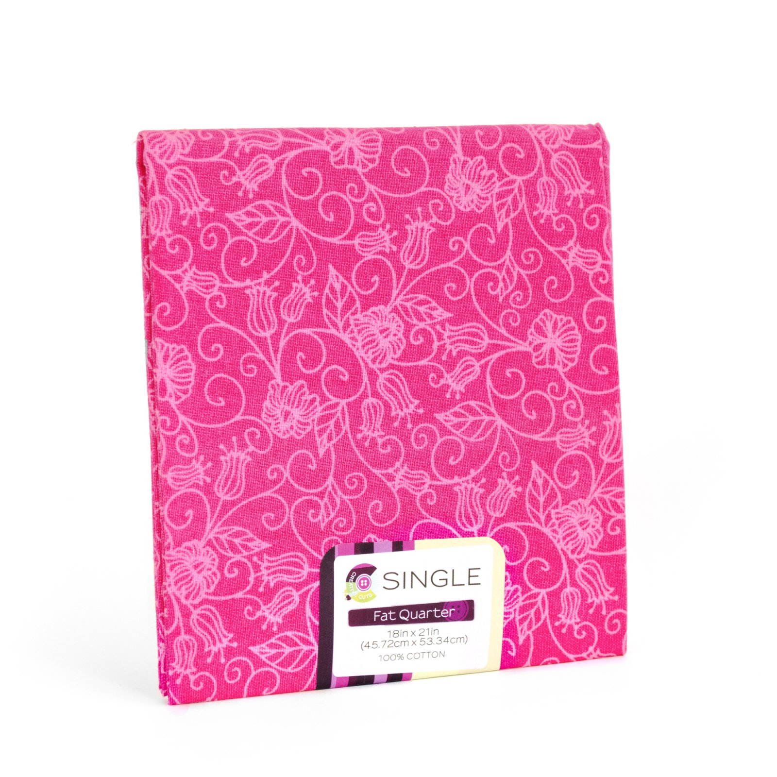 Creative Cuts Fat Quarter <br>Tonal Vine Magenta <br>MD-G-PC695