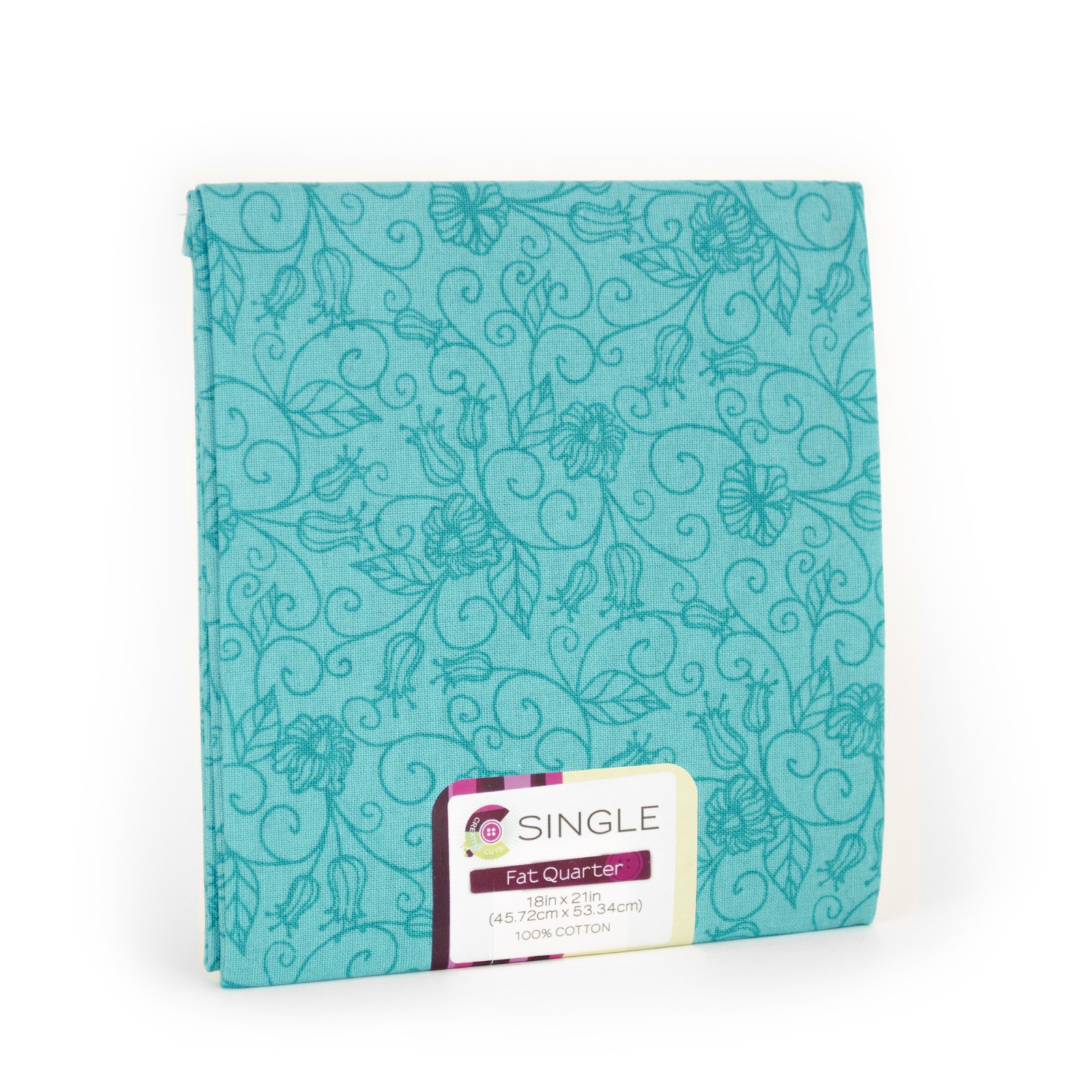 Creative Cuts Fat Quarter <br>Tonal Vine Turq <br>MD-G-PC739