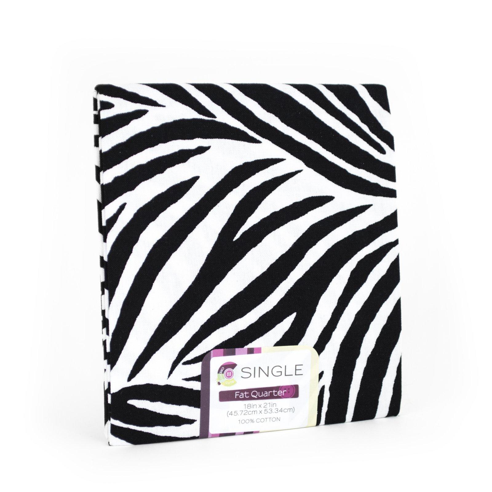 Creative Cuts Fat Quarter <br>Zebra White <br>MD-G-PC730