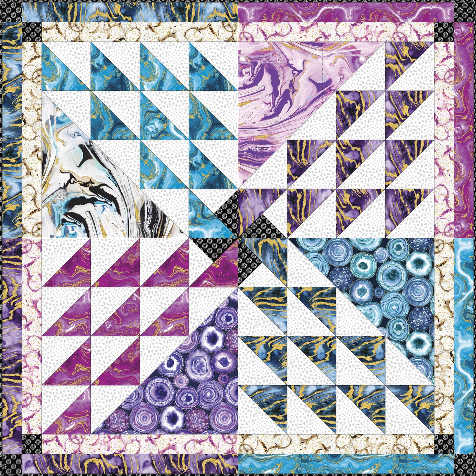 3 Wishes Fabric<br>Precious Metals Quilt