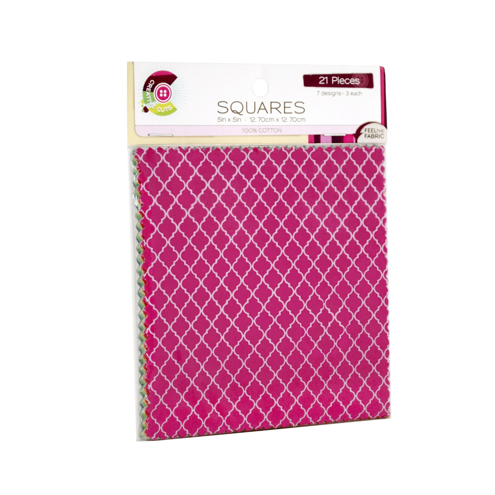 Creative Cuts 21pc Squares Pack<br> Quatrefoil Collection<br> MD-WM-SQ-QUA