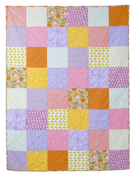 Charming Squares Quilted Throw
