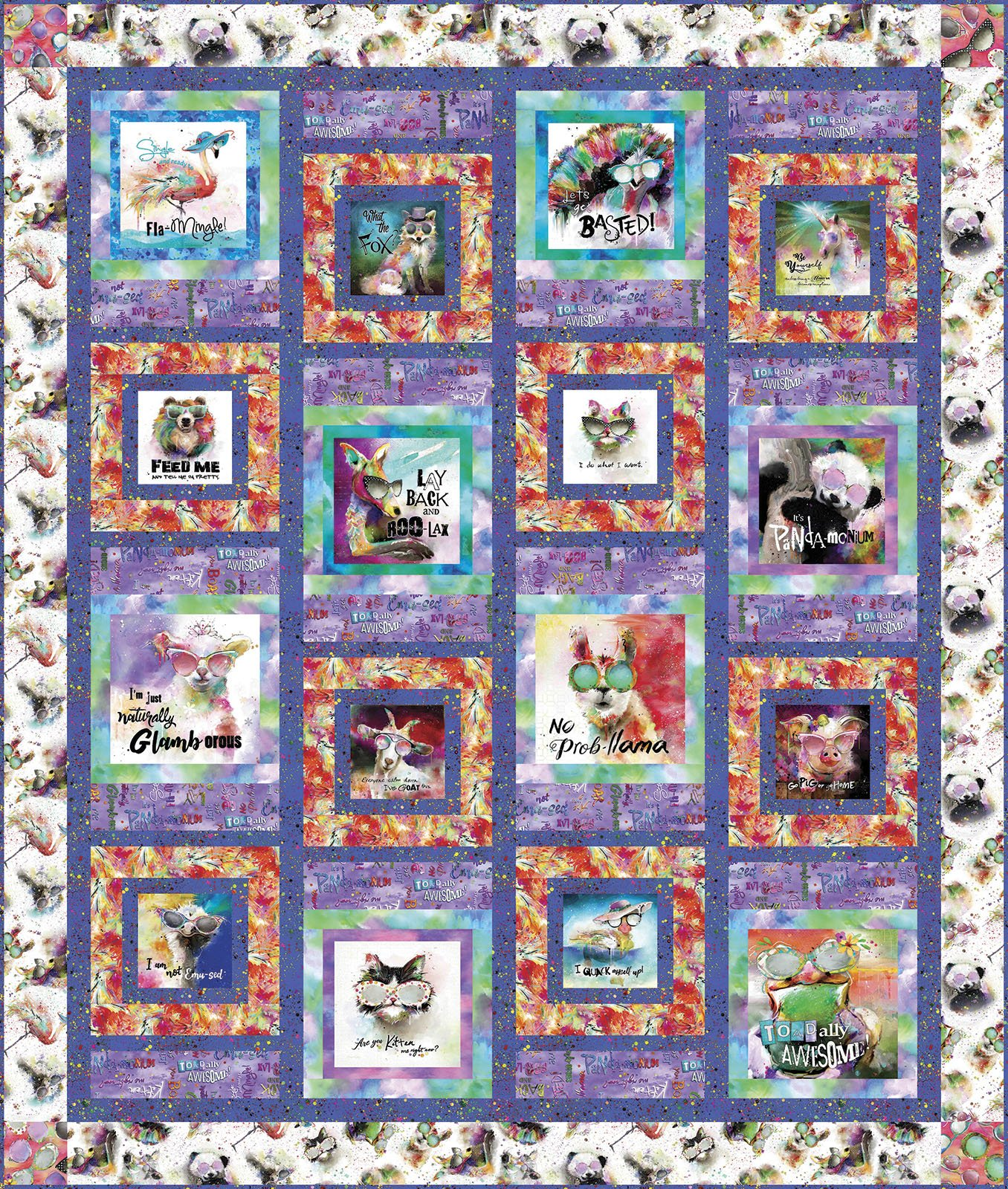 3 Wishes Fabric<br>Sassier Animals Quilt