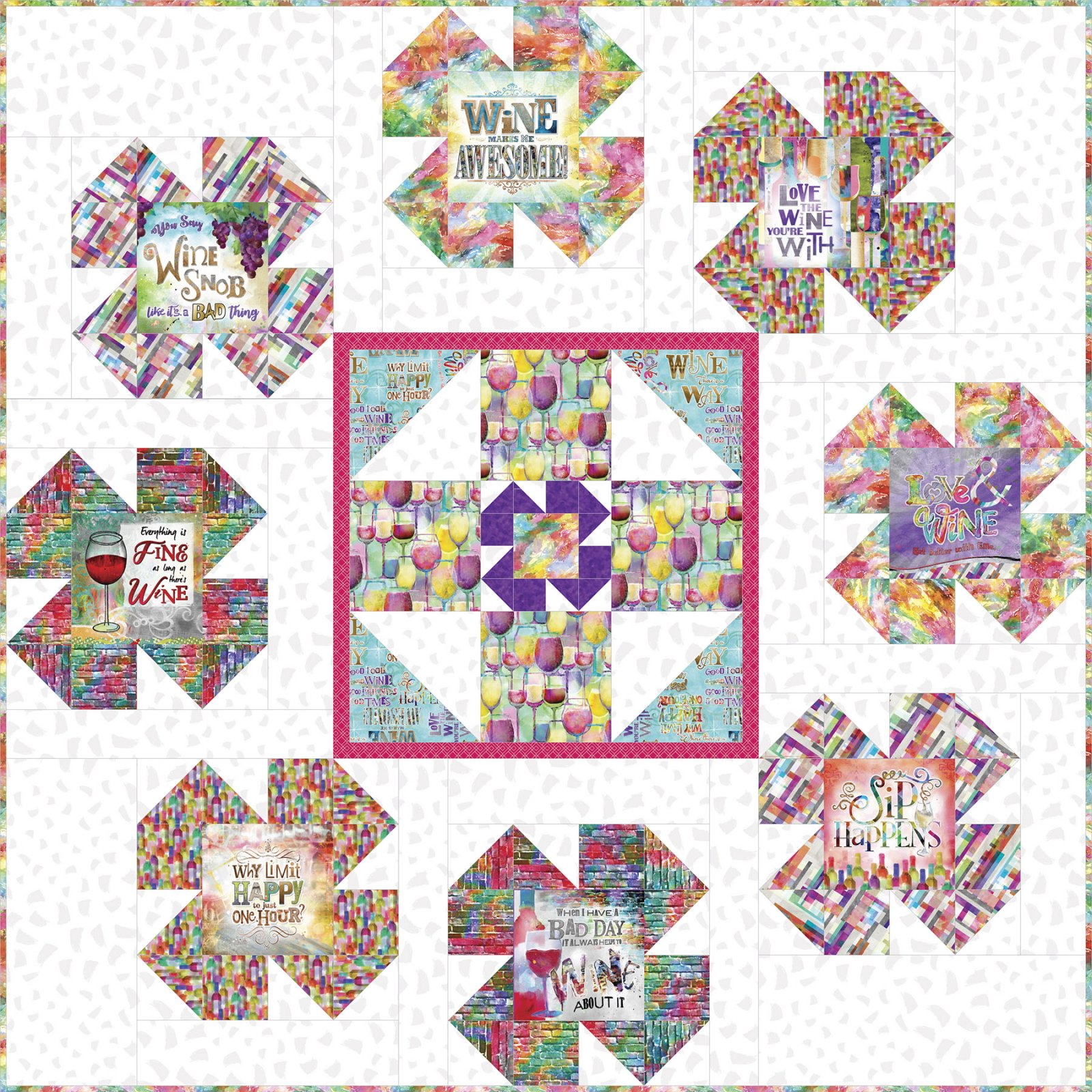 3 Wishes Fabric<br>Sip & Snip Quilt