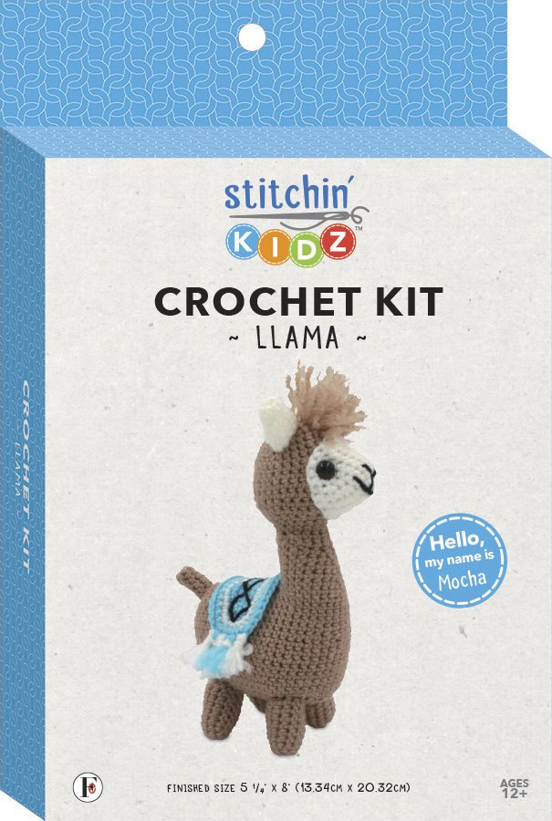Stitchin' Kidz <br>3-D Crochet Kit Llama <br>SK-CRCHKT-LLAM