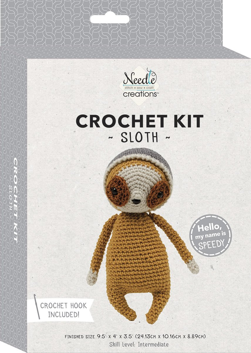 Needle Creations<br>3-D Crochet Kit Sloth<br>SK-CRCHKT-SLTH