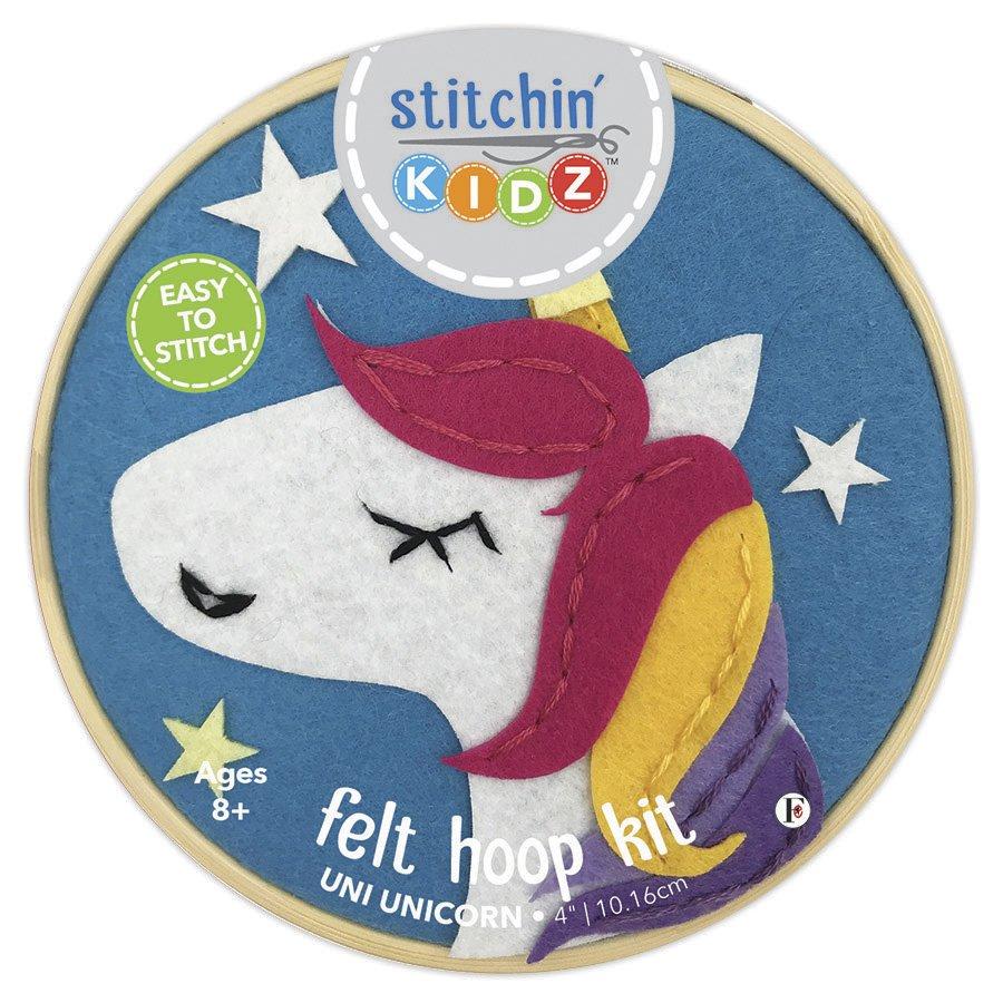 Stitchin' Kidz <br>Felt Hoop Kit Unicorn <br>SK-FHP-UNCR4