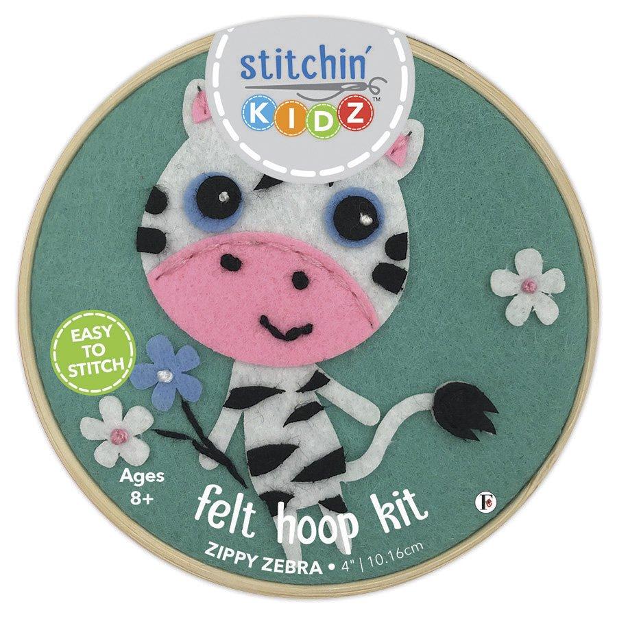 Stitchin' Kidz <br>Felt Hoop Kit Zebra <br>SK-FHP-ZBR4