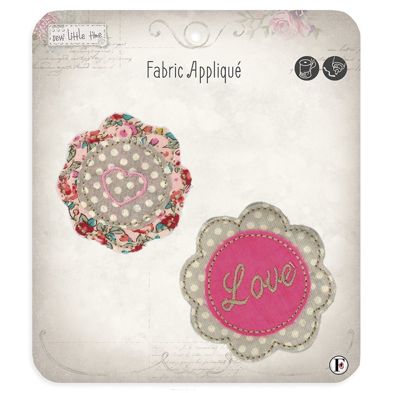 Sew Little Time Applique Flower Heart & Love