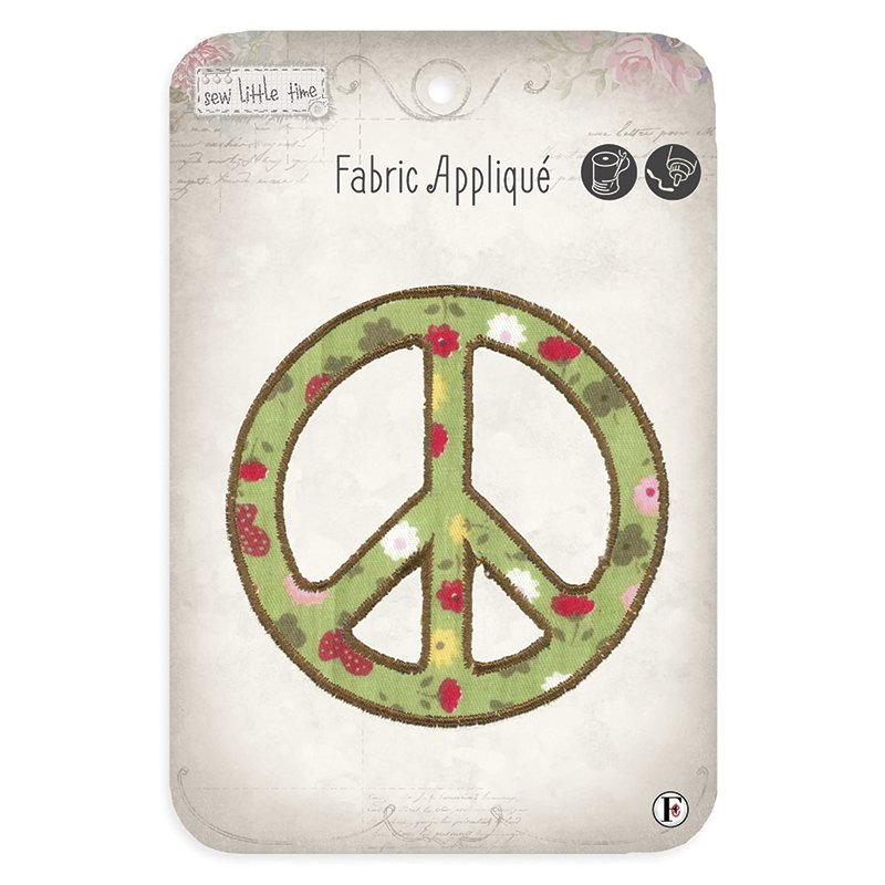 Sew Little Time<br>Peace Sign Applique<br>SLT-APP-PEACE