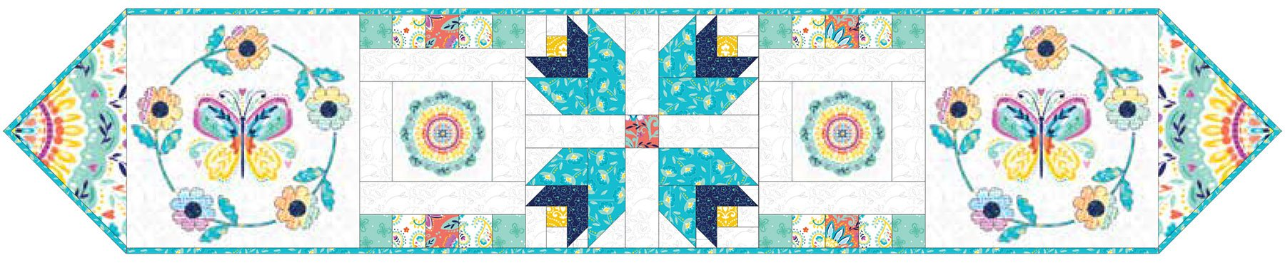 3 Wishes Fabric<br>Summer Song Table Runner