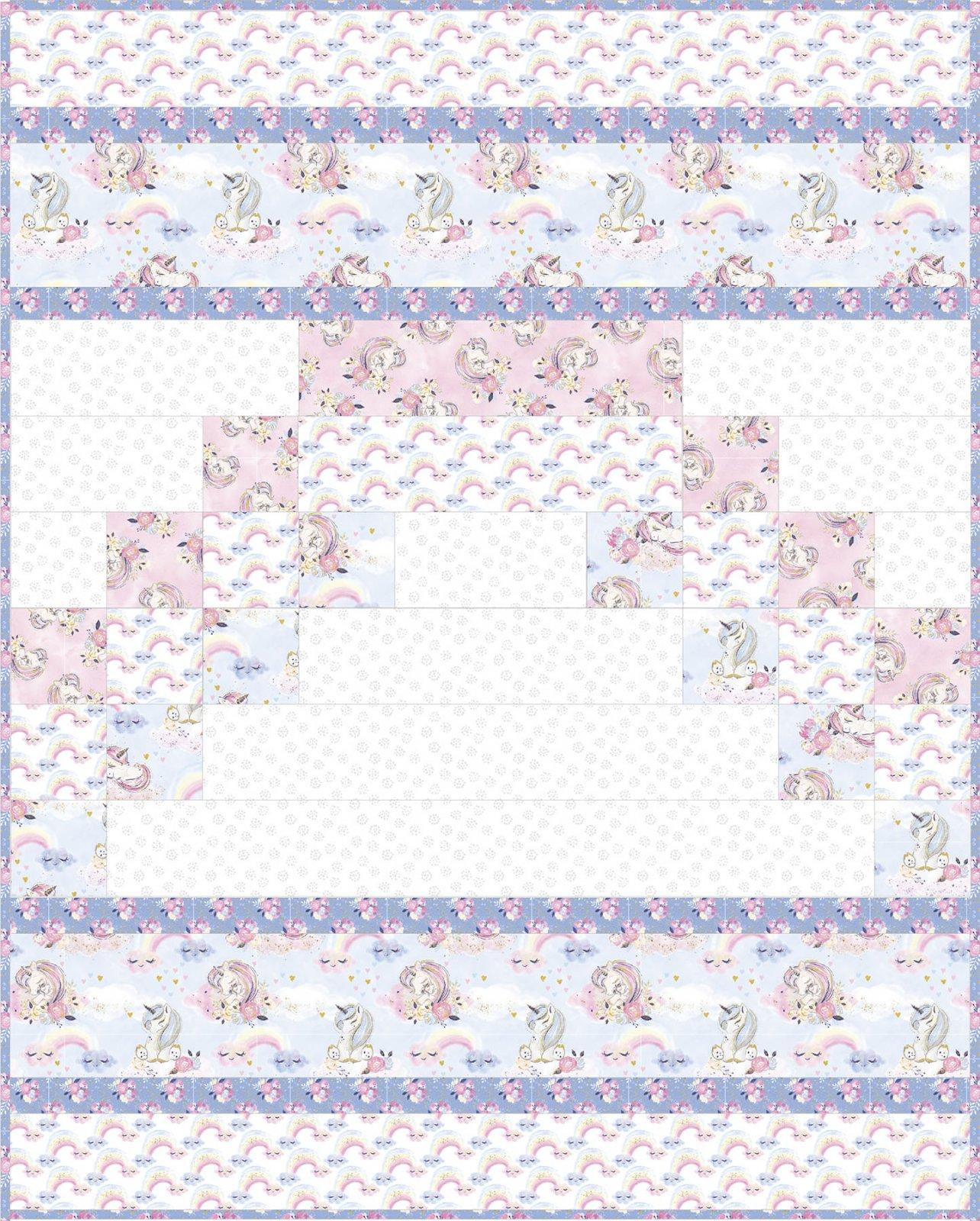 3 Wishes Fabric<br>Unicorn Utopia Quilt