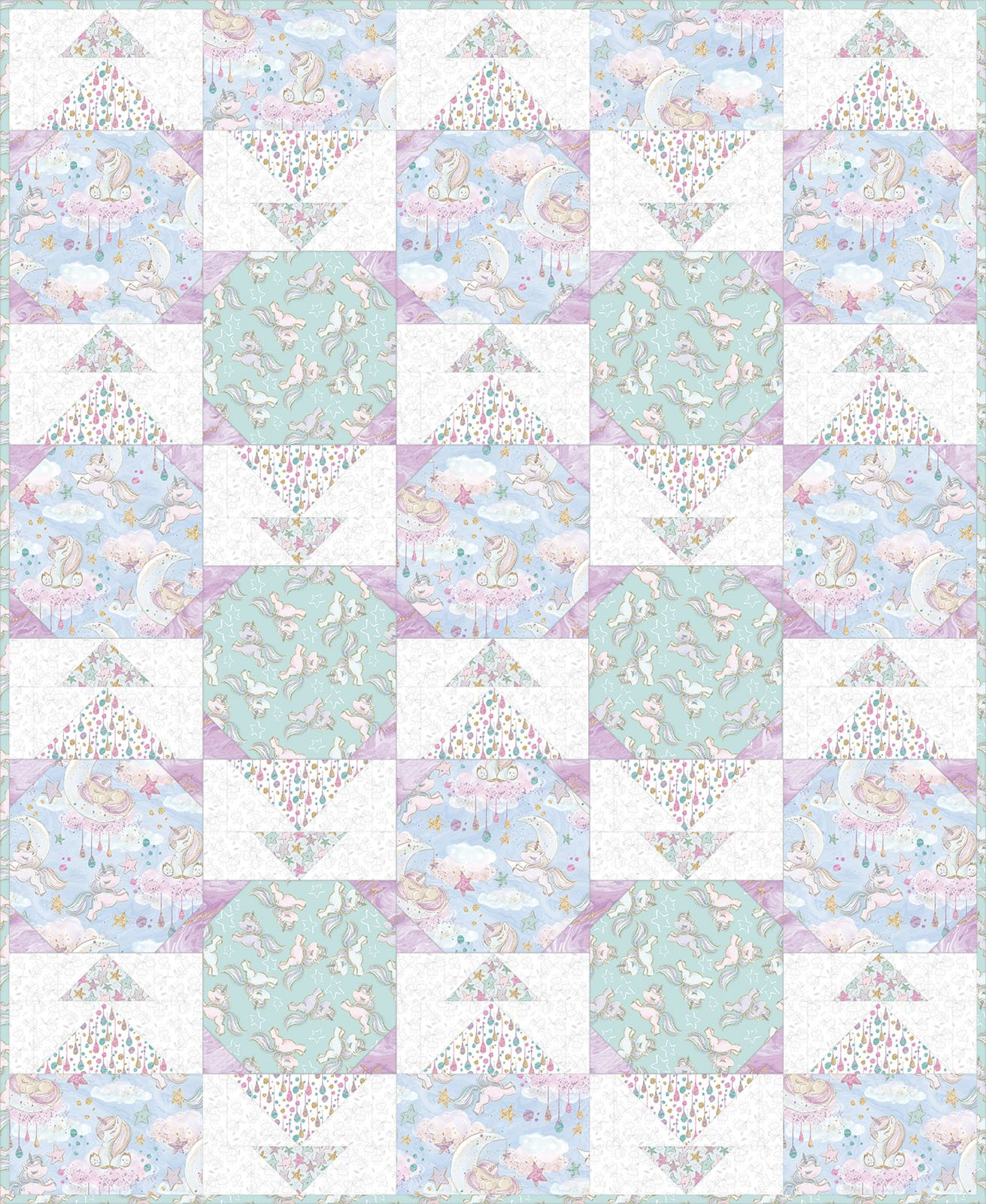 3 Wishes Fabric<br>Unicorn Sparkle Quilt